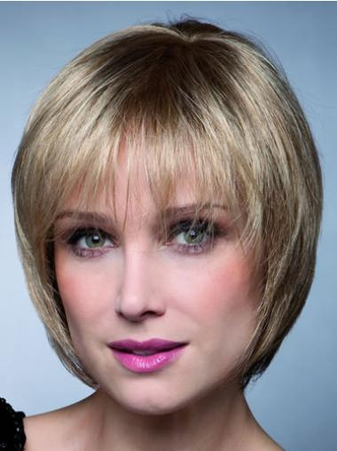 New Blonde Straight Short Synthetic Wigs