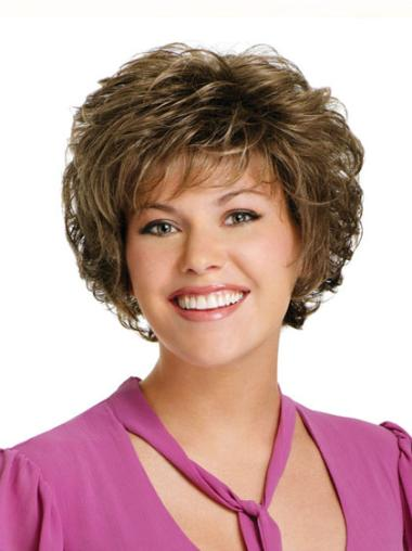 Sassy Brown Curly Short Classic Wigs
