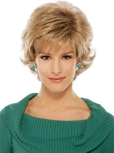 Refined Blonde Wavy Short Classic Wigs