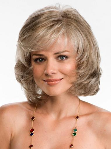 Suitable Blonde Wavy Chin Length Wigs For Cancer