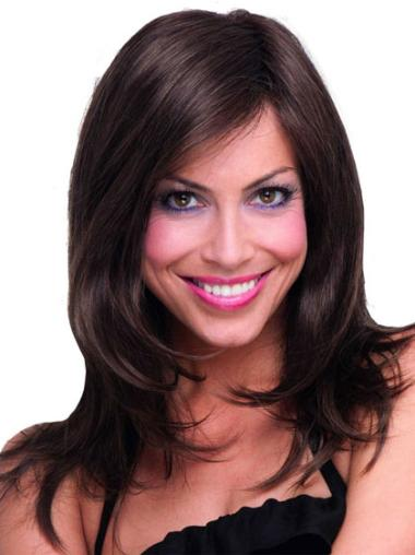 Gorgeous Brown Straight Long Synthetic Wigs