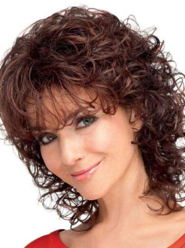 New Auburn Curly Shoulder Length Classic Wigs