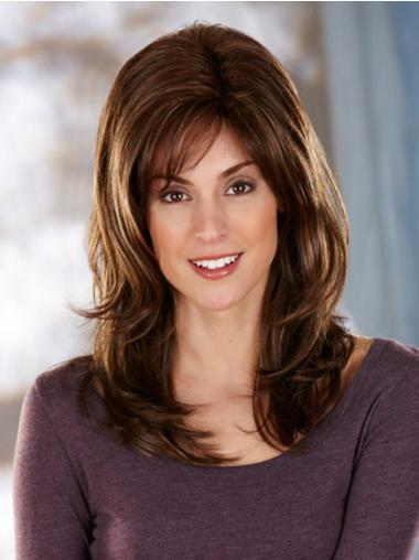 Popular Brown Wavy Long Synthetic Wigs