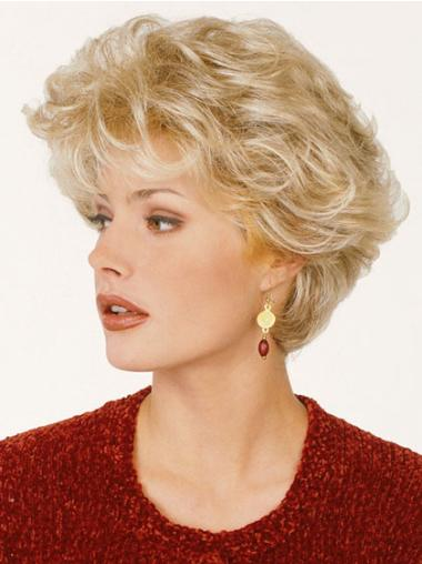 Tempting Blonde Wavy Short Classic Wigs