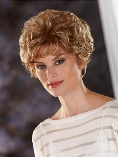 Beautiful Blonde Wavy Cropped Classic Wigs