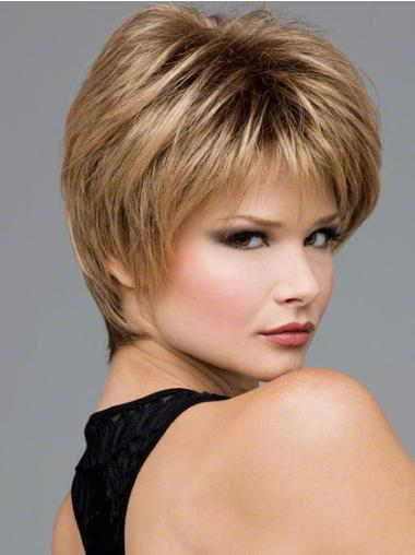 Blonde Wavy Synthetic Affordable Short Wigs