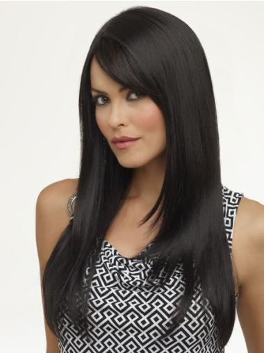 Traditiona Black Straight Wigs For Cancer