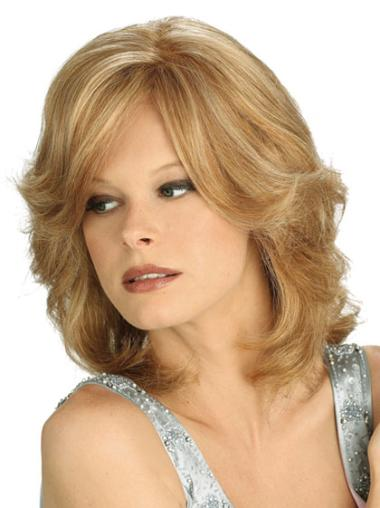 Braw Blonde Wavy Shoulder Length Lace Wigs