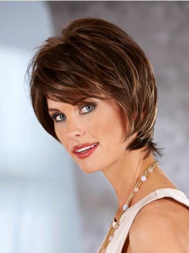 No-fuss Auburn Lace Front Chin Length Classic Wigs