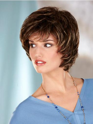 Online Brown Wavy Chin Length Classic Wigs