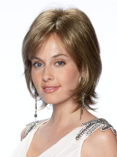 Beautiful Blonde Wavy Chin Length Lace Front Wigs