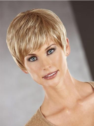 Style Auburn Straight Cropped Synthetic Wigs
