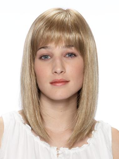 Top Blonde Lace Front Shoulder Length Lace Wigs