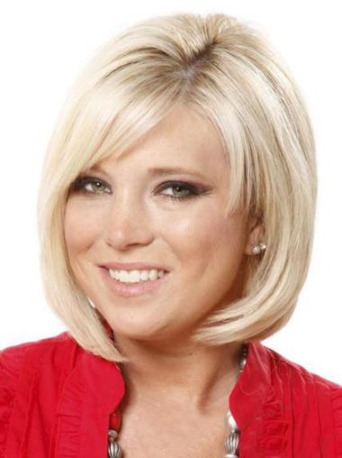 Good Blonde Straight Chin Length Lace Front Wigs