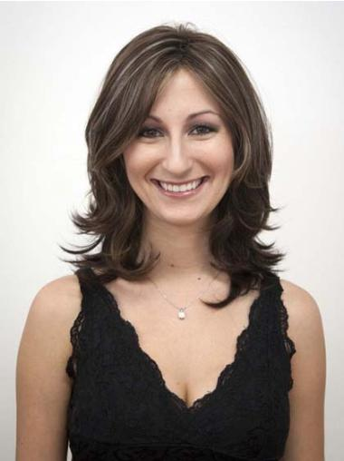 Ideal Brown Wavy Shoulder Length Synthetic Wigs
