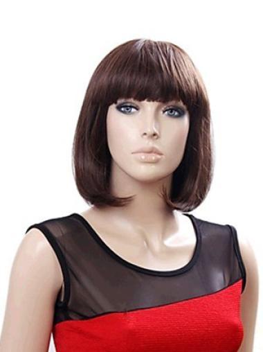 Auburn Tempting Straight Synthetic Medium Wigs