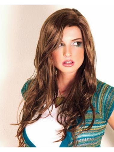 Hairstyles Brown Wavy Long Synthetic Wigs