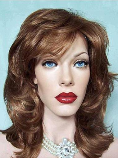 Easy Synthetic Lace Front Wavy Medium Wigs