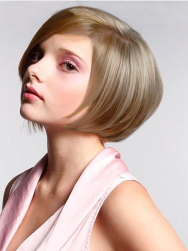 Faddish Blonde Lace Front Chin Length Wigs For Cancer