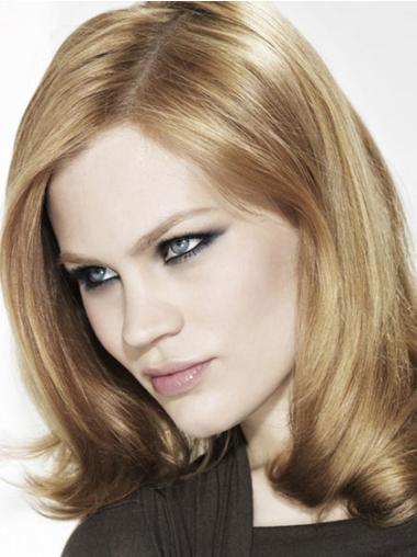 Blonde Wavy Synthetic Impressive Medium Wigs