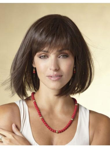 Black Straight Synthetic Pleasing Short Wigs