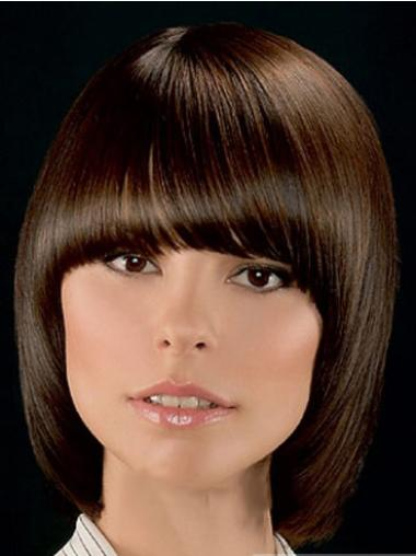 Exquisite Lace Front Straight Chin Length Lace Wigs