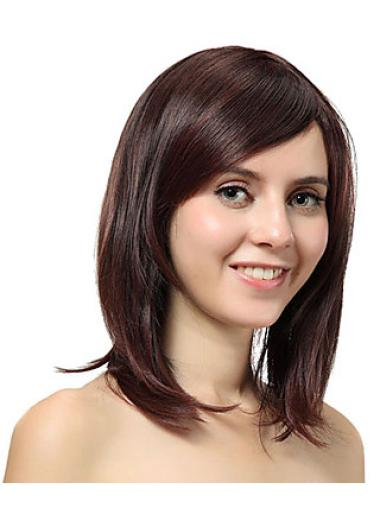 Nice Auburn Straight Shoulder Length Synthetic Wigs