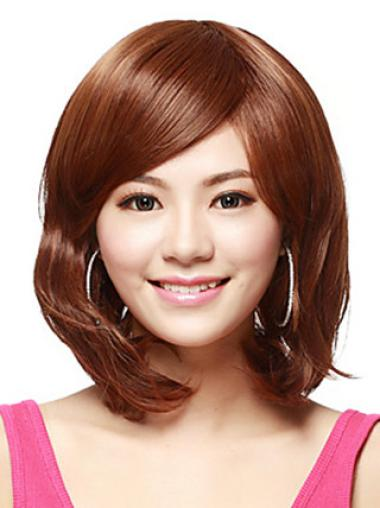 No-fuss Auburn Straight Shoulder Length Synthetic Wigs