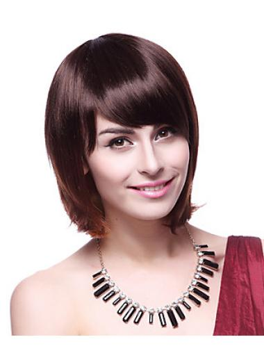 Online Auburn Straight Chin Length Synthetic Wigs