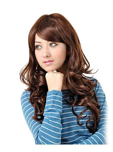 Amazing Auburn Wavy Long Synthetic Wigs