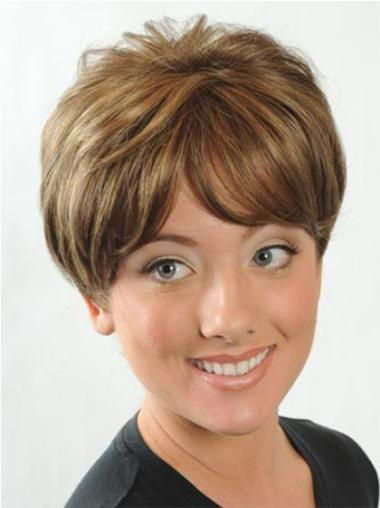 Trendy Auburn Straight Short Synthetic Wigs
