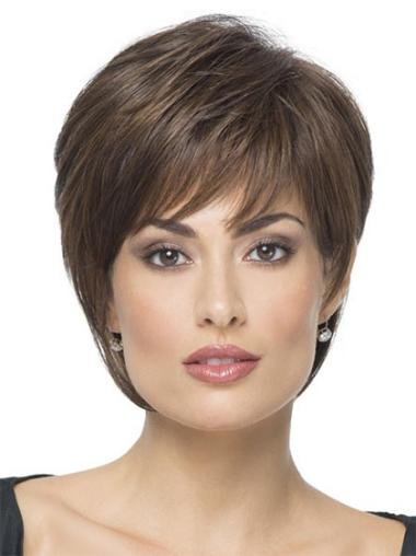 Brown Straight Short Synthetic Wigs