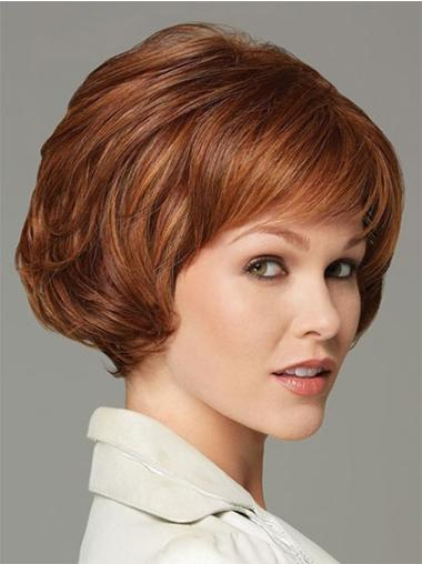 Easy Auburn Wavy Short Classic Wigs