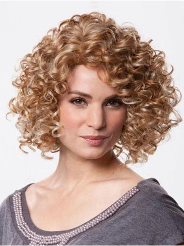 Fashion Brown Curly Chin Length Petite Wigs