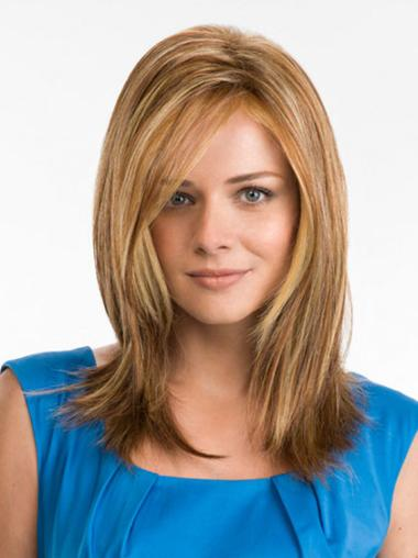 Blonde Straight Synthetic Graceful Wigs For Cancer