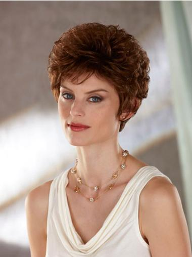 Ideal Auburn Wavy Short Classic Wigs