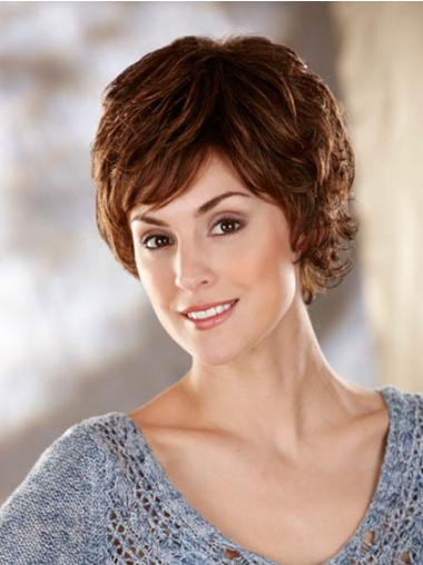 Wholesome Brown Wavy Short Classic Wigs