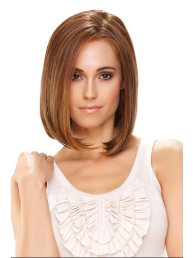 Fashionable Straight Monofilament Chin Length Lace Wigs For Cancer