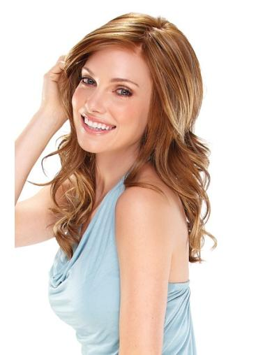 Blonde Wavy Synthetic Polite Wigs For Cancer