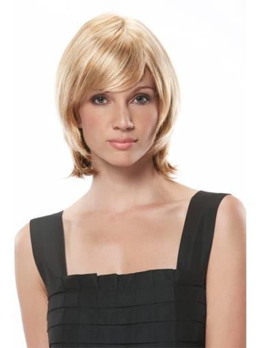 Blonde Monofilament Synthetic Great Medium Wigs
