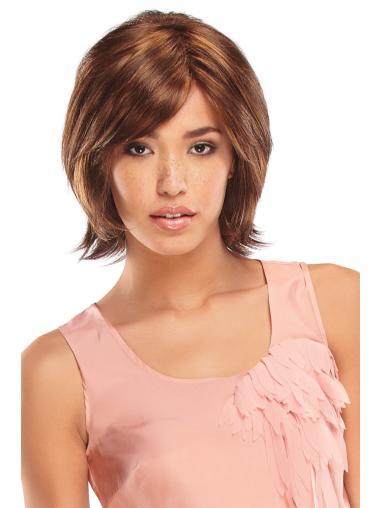 Monofilament Straight Synthetic Comfortable Medium Wigs