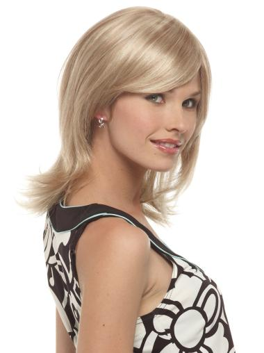 Good Blonde Wavy Shoulder Length Synthetic Wigs