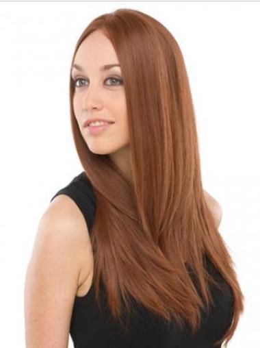 Sassy Auburn Lace Front Long Celebrity Wigs