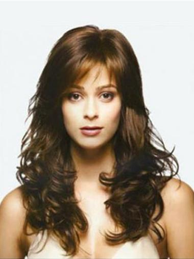 Preferential Remy Human Hair Lace Front Wavy Long Wigs