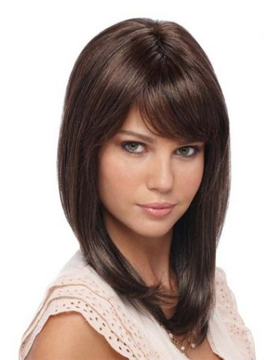 Easeful Lace Front Straight Shoulder Length Celebrity Wigs