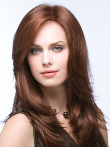 Auburn Layered Straight Faddish Long Wigs