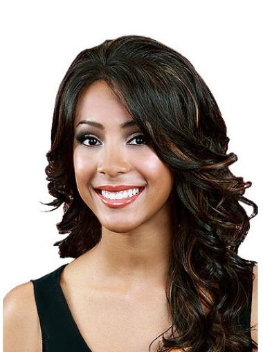 Natural Black Wavy Synthetic Long Wigs
