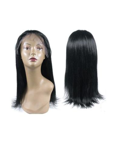 Stylish Black Straight Remy Human Hair Long Wigs