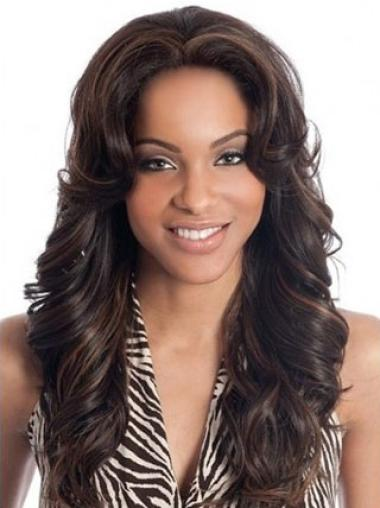 Mature Auburn Wavy Indian Remy Hair Long Wigs