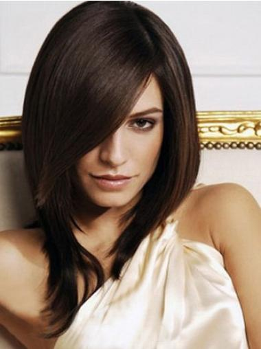 Exquisite Brown Straight Shoulder Length Synthetic Wigs